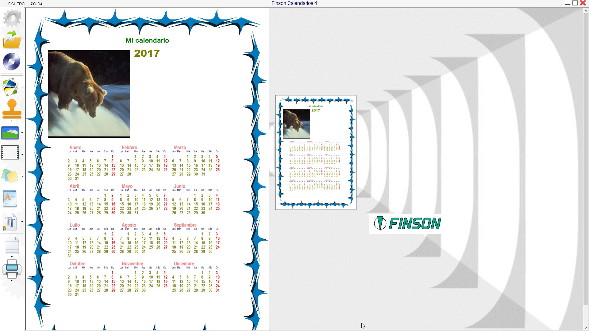 FINSON CALENDARIOS 4 PARA WINDOWS - schermata 2